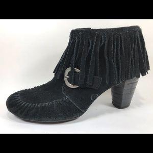 Børn Suede Tassel Zip Ankle Boots 8.5M